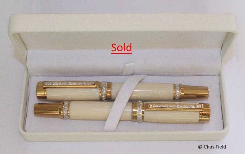 Matrimonia Avorio Wedding Pens Set Boxed