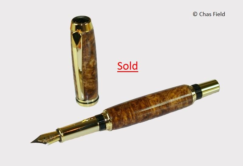 Parlick TR Fountain Pen Amboyna Burr 29062014