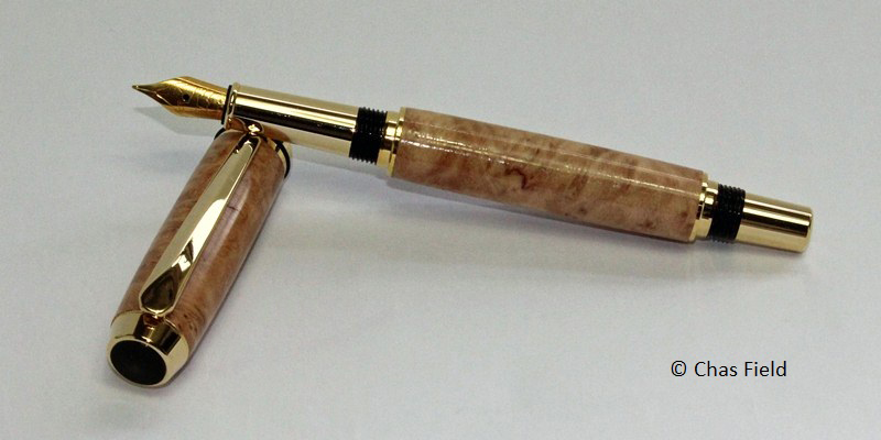 Parlick TR Fountain Pen Red Mallee 16052015