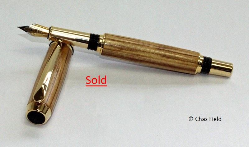 Parlick TR Fountain Pen Zebrano 16052015
